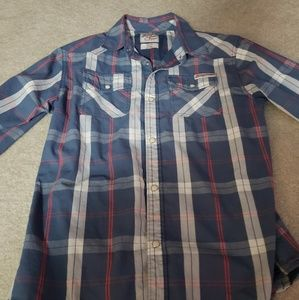 LUCKY BRAND SPORTSWEAR BUTTON UP Pearl buttons